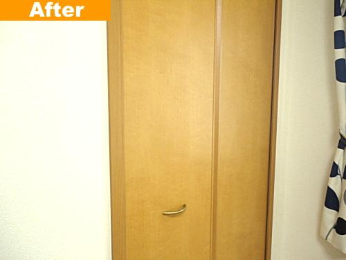 クローゼット扉の補修後