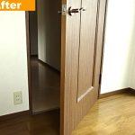 洋室ドアの補修
