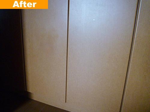 収納扉の穴補修後