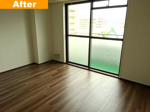 床をフロアタイル施工