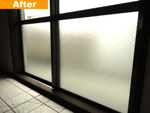 ガラスを交換した窓