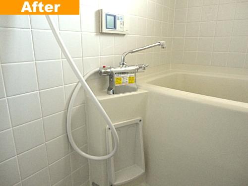新しいシャワー水栓器具