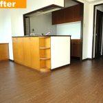 リビング床をフロアタイル施工