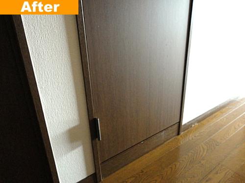 修理後のドア