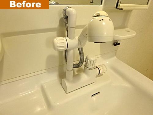 壊れたシャワー水栓