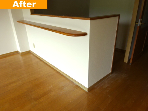 キッチン壁のボード補修