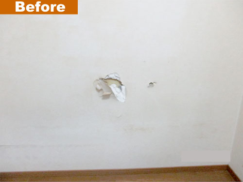 破損した壁