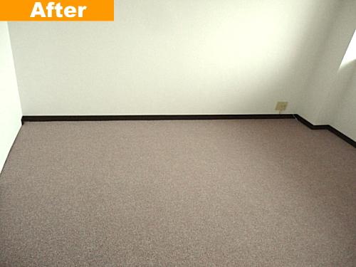 新しく貼り換えたカーペット