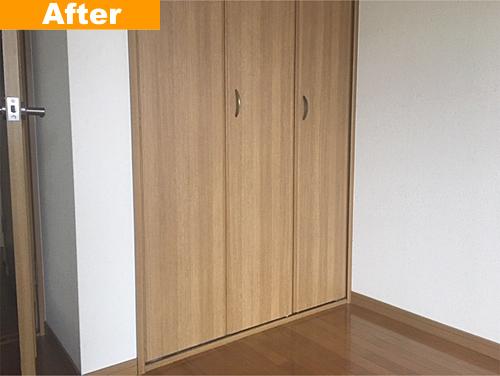補修後の扉